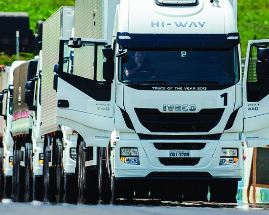 Arena Fonte Nova recebe Test-drive de caminhões Iveco
