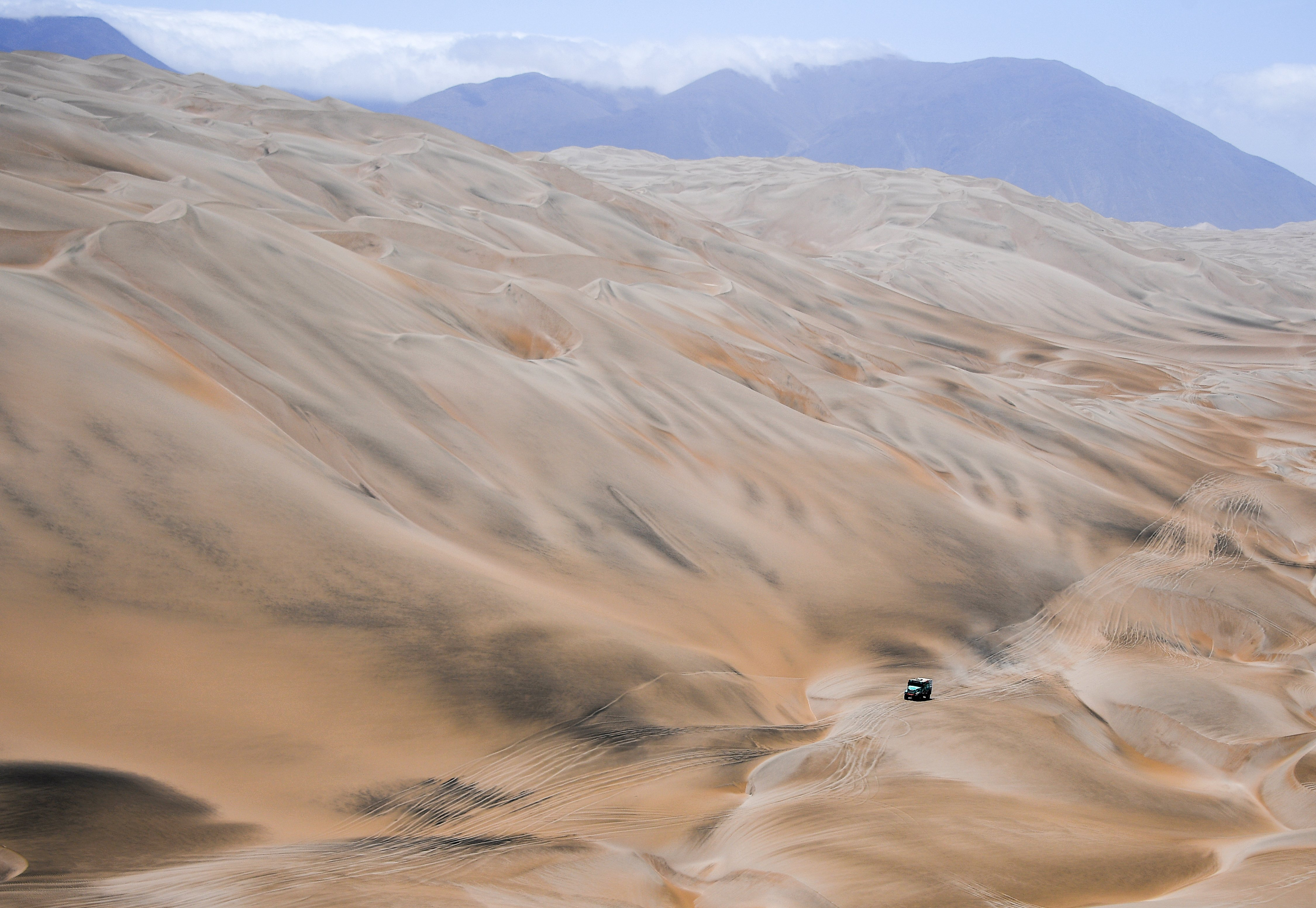 paysage landscape Iveco, Petronas Team de Rooy Iveco, Truck, Camion, action during the Dakar 2019, Stage 6, Arequipa - San Juan de Marcona, peru, on january 13 - Photo DPPI